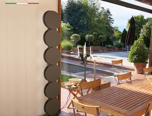 Residenza privatain zonacollinare – Torino – CONNUBIO, termo arredo elettrico a piantana con luce incorporata, un oggetto unico dal Design ricercato