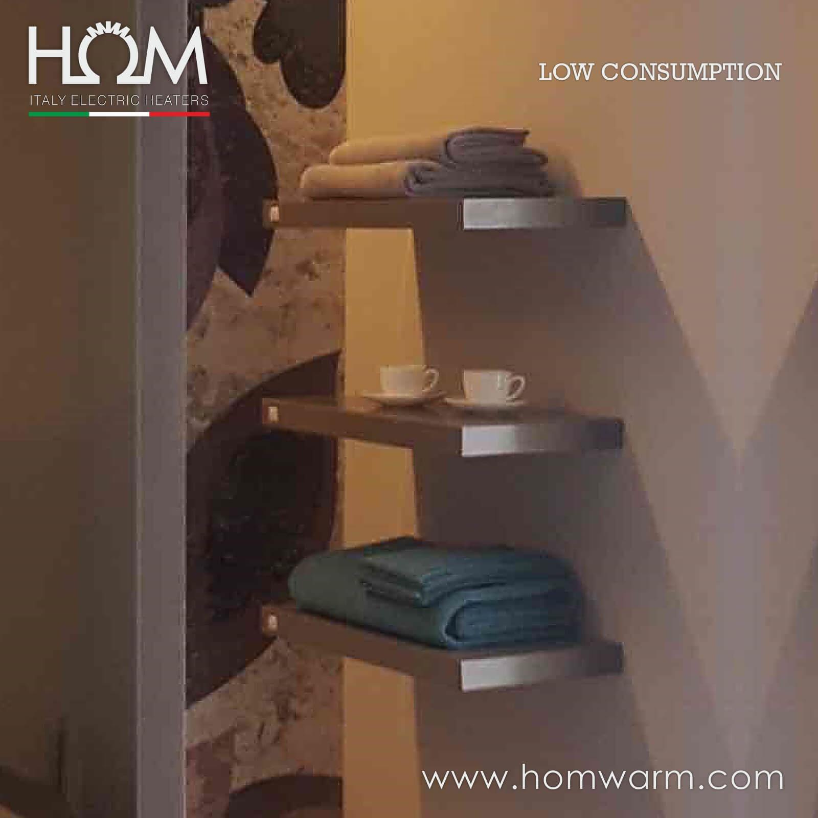 Centro estetico, Italy – Scalda salviette elettrici HOM mensola riscaldante