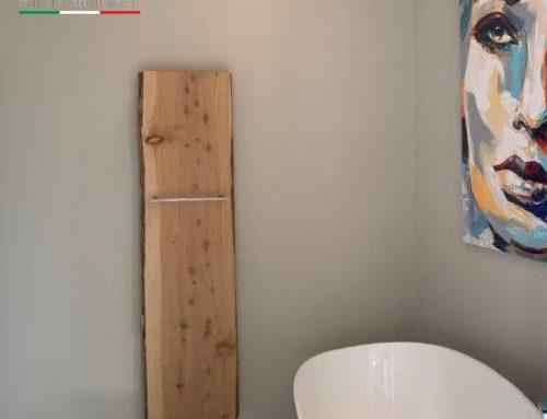 Residenza privata in Germania – XILO L: Radiatore elettrico in legno a parete realizzato da unica tavola monolitica.