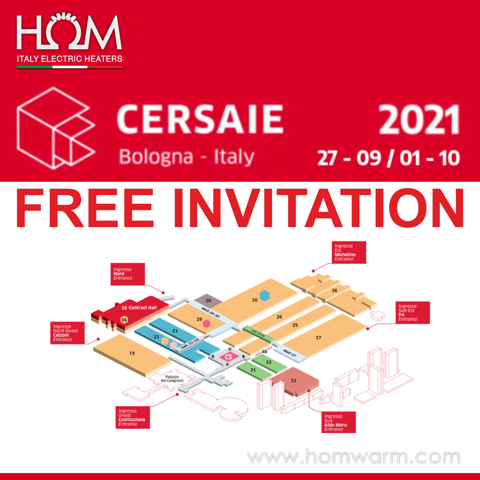cersaie 2021 free invitation